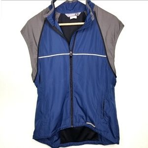 Sugoi Cycling Vest Medium Blue Missing Sleeves